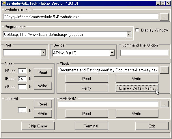 http://yuki-lab.jp/hw/avrdude-GUI/avrdude-GUI.png